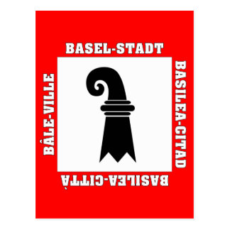 Basel Stadt Switzerland Flag Postcard