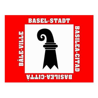 Basel Stadt Switzerland Flag Post Card