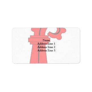 Basel, Switzerland flag Address Label
