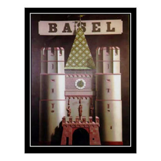 Basel Switzerland Vintage Travel Poster