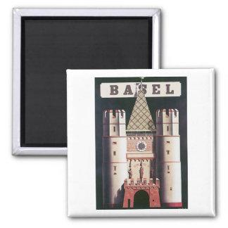 Basel Vintage Travel Poster Magnet