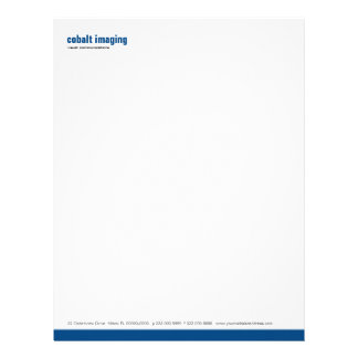 Baseline Panel Cobalt Personalized Letterhead