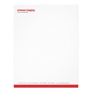 Baseline Panel Crimson Letterhead