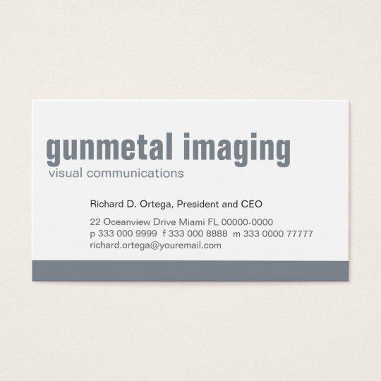 Baseline Panel Gunmetal Business Card