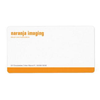 Baseline Panel Orange Shipping Label