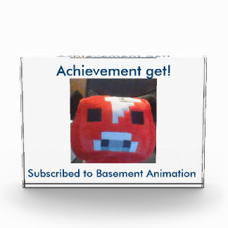 Basement Animation trophy Acrylic Award
