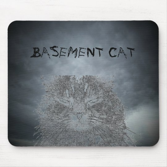 Basement cat and stormyou dark clouds mouse pad