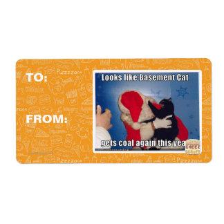Basement Cat gets coal Label