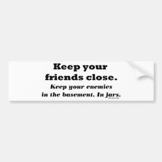 Basement Friends Bumper Sticker