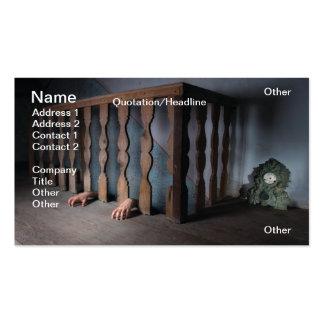 Basement horror business card