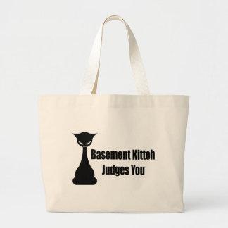 Basement Kitteh Judges You Bags