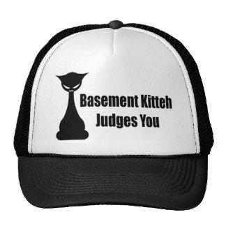 Basement Kitteh Judges You Trucker Hat