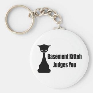 Basement Kitteh Judges You Key Chains
