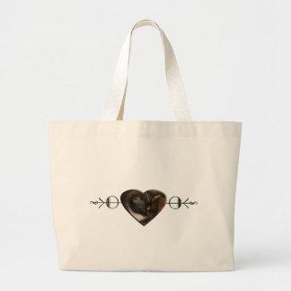 Basement Kitty Love Canvas Bags