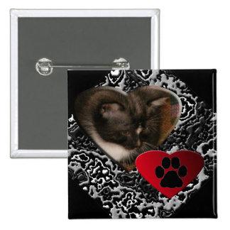 Basement Kitty Love Pin