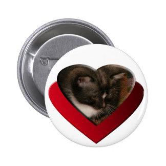 Basement Kitty Love Pinback Buttons