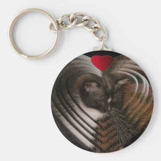 Basement Kitty Love Key Chains