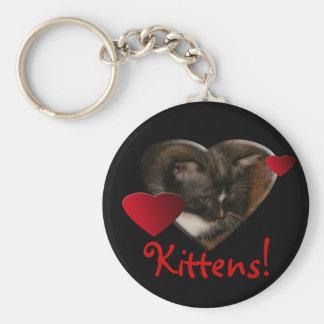 Basement Kitty Love Key Chain