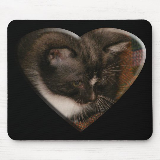 Basement Kitty Love Mouse Pad