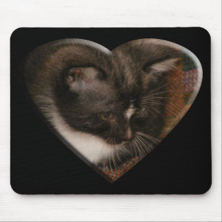Basement Kitty Love Mousepads