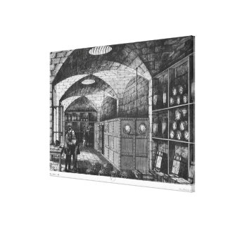 Basement of the Bank of France in Paris, 1897 Canvas Print