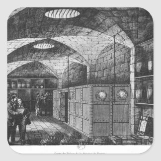 Basement of the Bank of France in Paris, 1897 Square Sticker