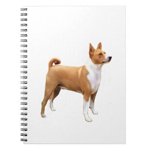 Basenji (a) - soporte libro de apuntes con espiral