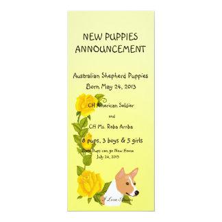 Basenji and Yellow Roses Card