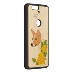 Carved ® Google Nexus 6p Bumper Wood Case with Basenji Phone Cases design