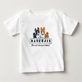Basenji apenas uno playera de bebé