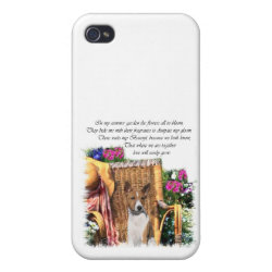 Case Savvy iPhone 4 Matte Finish Case with Basenji Phone Cases design