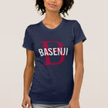Basenji Breed Monogram Design T-Shirt