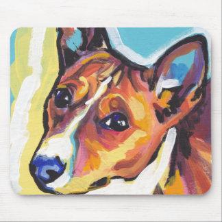 Basenji Bright Colorful Pop Dog Art Mouse Pad
