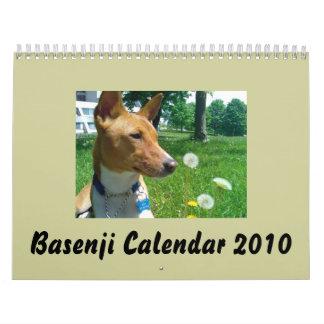 Basenji Calendar 2010