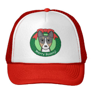 Basenji Christmas Trucker Hat