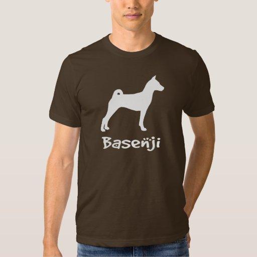 Basenji con el texto fresco (en blanco) remera