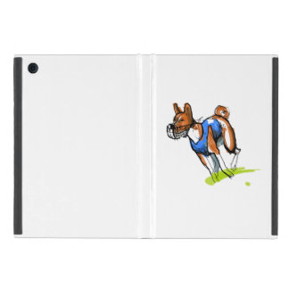 Basenji coursing sketch iPad mini case