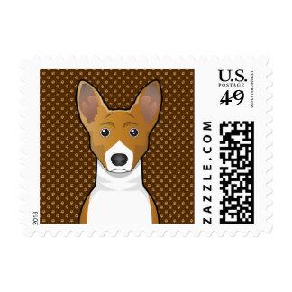 Basenji Dog Cartoon Paws Postage Stamp