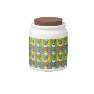Basenji Dog Cartoon Pop-Art Candy Jar