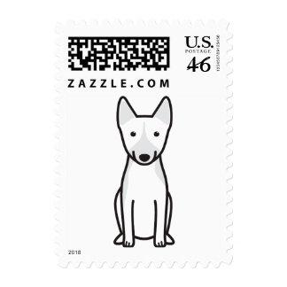 Basenji Dog Cartoon Postage Stamp