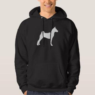 Basenji Dog (in white) Hooded Pullover