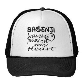 Basenji Dog Leaves Paw On My Heart Trucker Hat