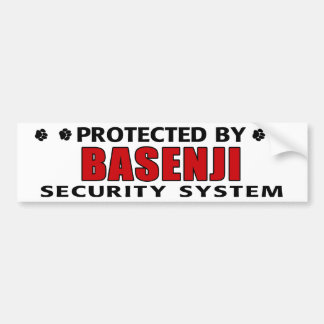 Basenji Dog Security Bumper Sticker