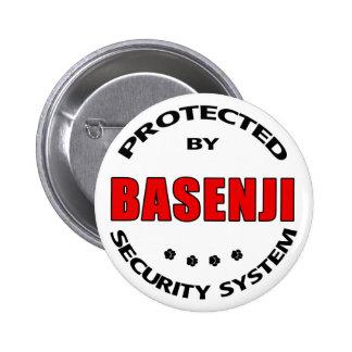 Basenji Dog Security Button