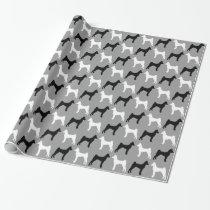 Basenji Dog Silhouettes Pattern Wrapping Paper