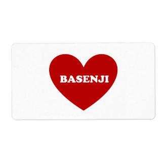 Basenji Etiqueta De Envío