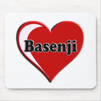 Basenji Heart for dog lovers Mouse Pad