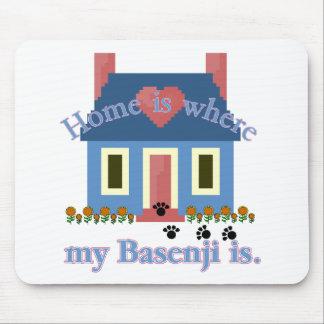 Basenji HOME IS Mouse Pad