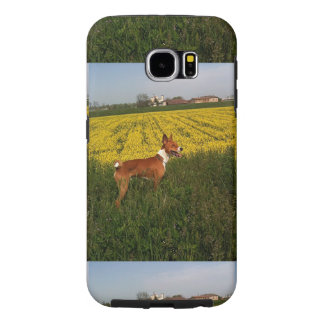 Basenji in field.png samsung galaxy s6 case