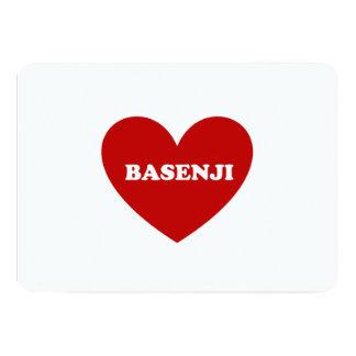 """Basenji Invitación 5"""" X 7"""""""